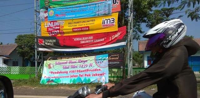 Pendukung Jokowi Tak Seharusnya Pasang Spanduk Di Tol