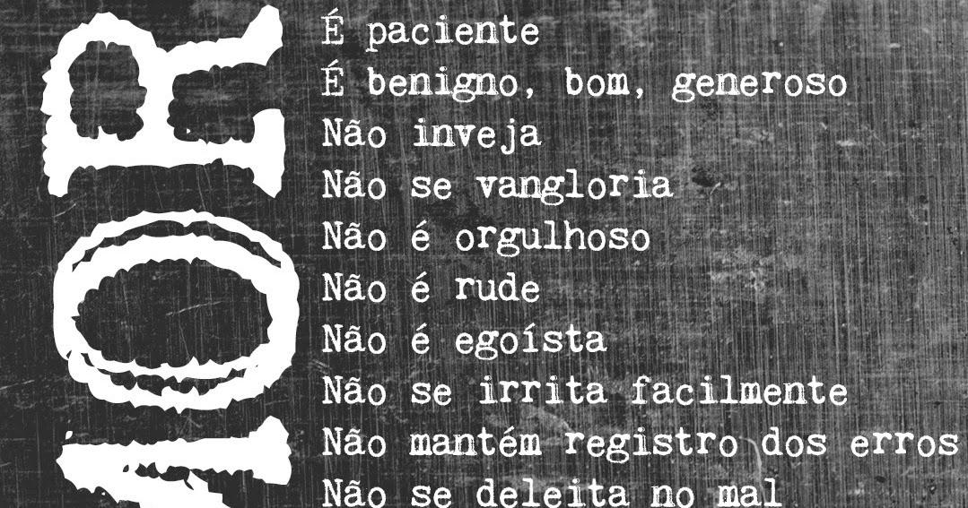 1 coríntios 13 4 8 portugues