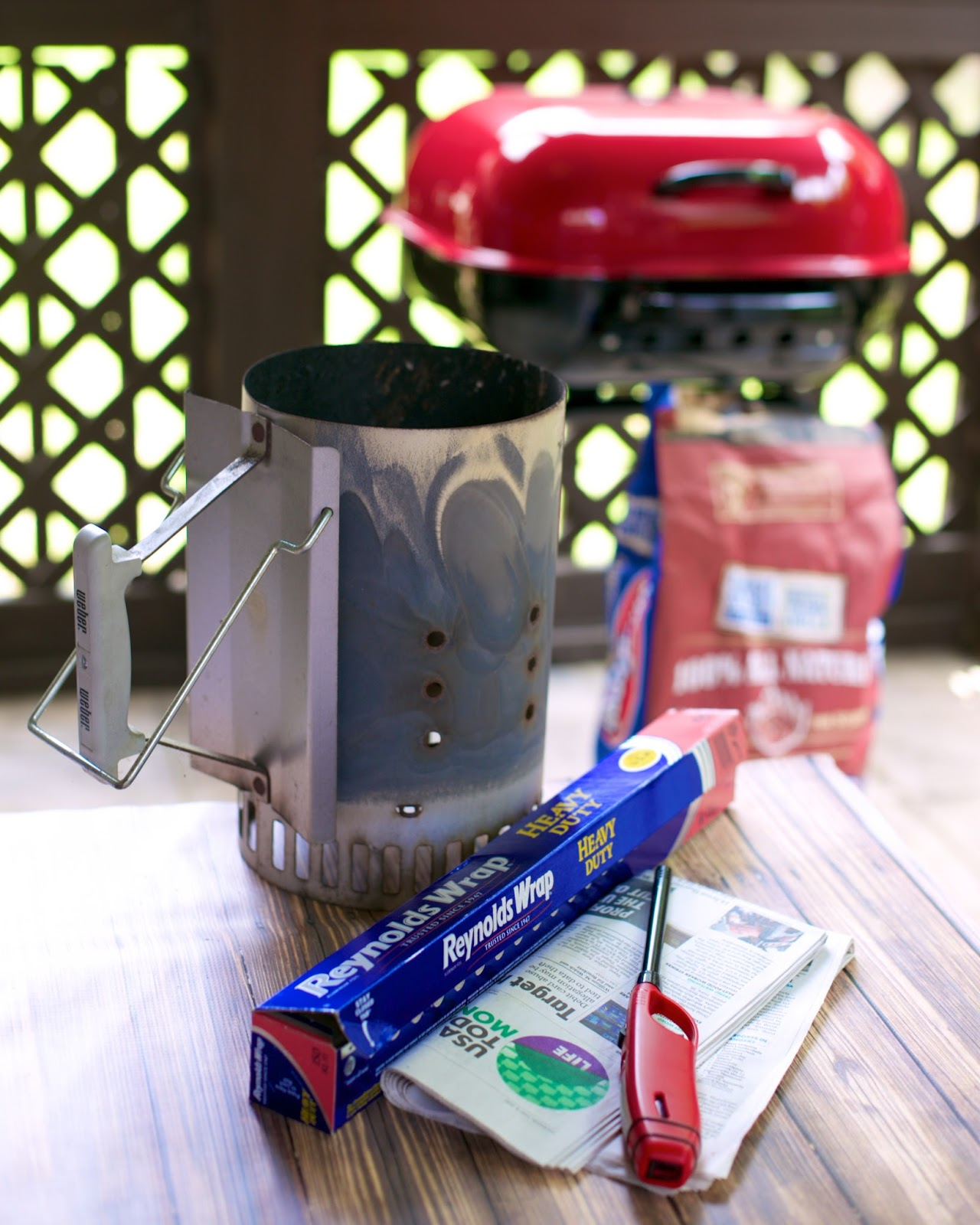 How to Use a Charcoal Starter - ditch the lighter fluid and start using a charcoal starter. Your grilled food will taste SO much better!! Learn how easy it is to use a chimney charcoal starter - with video!