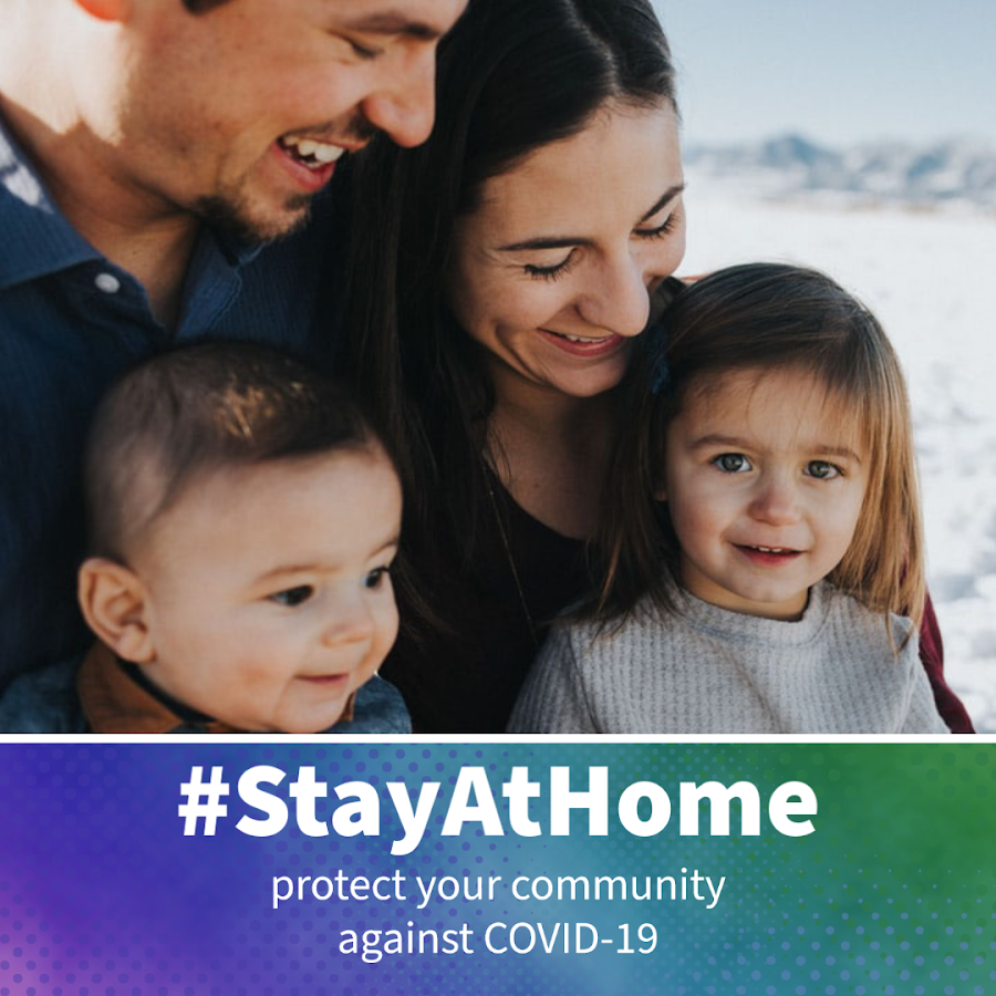 Encourage your family and friends to stay at home by adding this frame to your profile picture.