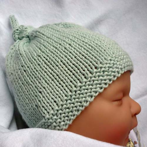 Baby Hat with Top Knot - Free Pattern