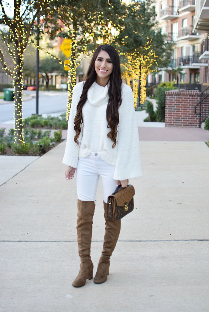 95bab6b8135 All White + Over The Knee Boots