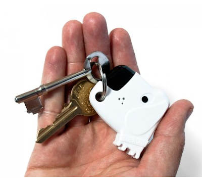key ring shaped like a dog that beeps when you whistle
