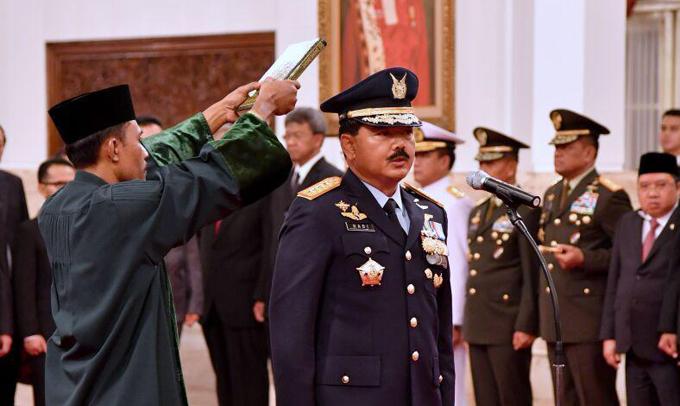 FOTO: Momen Marsekal Hadi Tjahjanto Resmi Jadi Panglima TNI