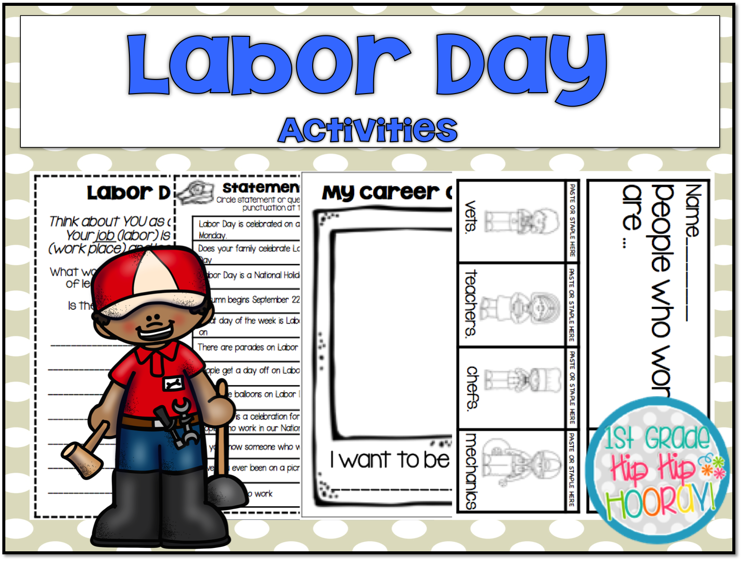 1st Grade Hip Hip Hooray Labor Day