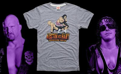 "Road to WrestleMania Week 5 – WrestleMania XIII ""Austin vs Hart"" T-Shirt by Homage x WWE"