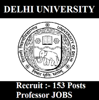 University of Delhi, DU, Delhi, University of Delhi, Professor, Post Graduation, freejobalert, Sarkari Naukri, Latest Jobs, du logo