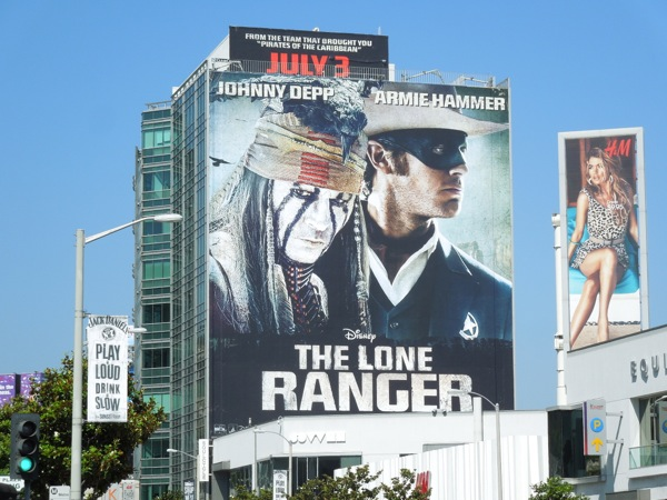 Giant Lone Ranger billboard
