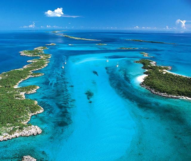 Bahamas vue aérienne