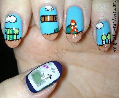 freehand-super-mario-gameboy-nintendo-nail-nails-art