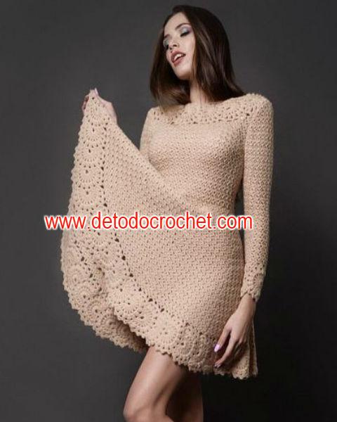 como-tejer-vestido-falda-campana-crochet