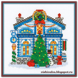 Cross-stitch Riolis 1662 «Ice Cabin»