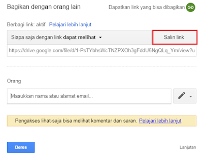 Direct Link Google Drive