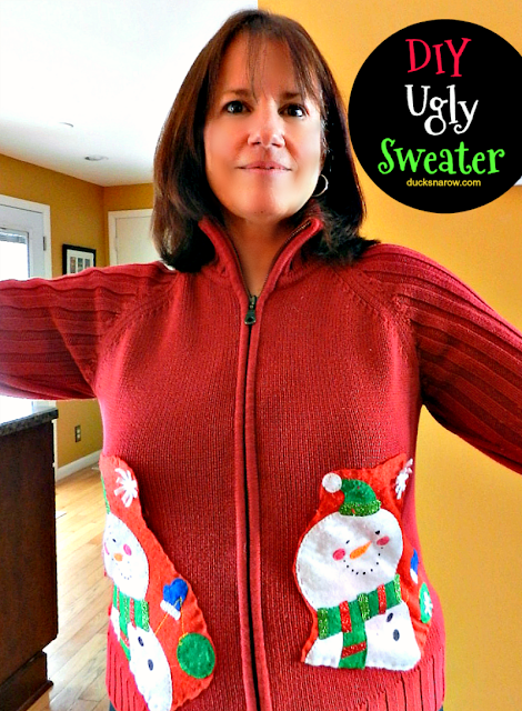 Christmas stocking, ugly sweaters, family fun