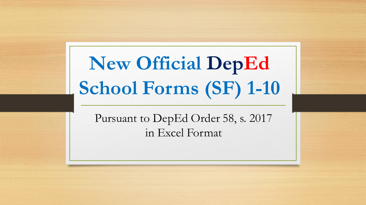 New official deped school forms pursuant deped order 58 s 2017 in official electronic copy of sf10 es school form 10 learners permanent academic record for elementary school former form 137 and the rest of other fandeluxe Image collections