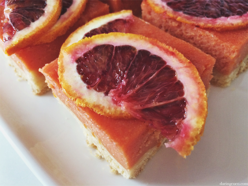 blood orange curd bars