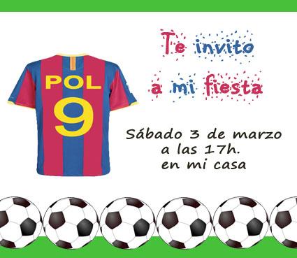 Tarjetas De Invitación De Cumpleaños Del Barça Imagui