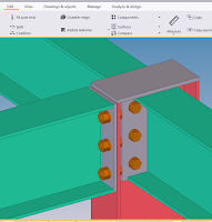 Tutorial Tekla Measure bolt spacing,Tutorial tekla indonesia