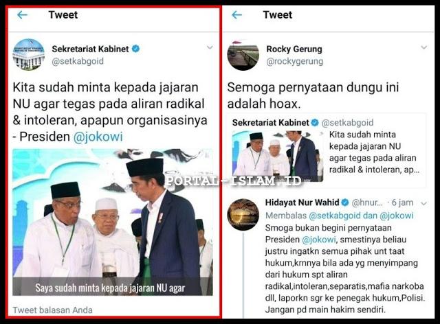 "CADAS! Rocky Gerung sebut statemen Presiden Jokowi ""pernyataan dungu"""