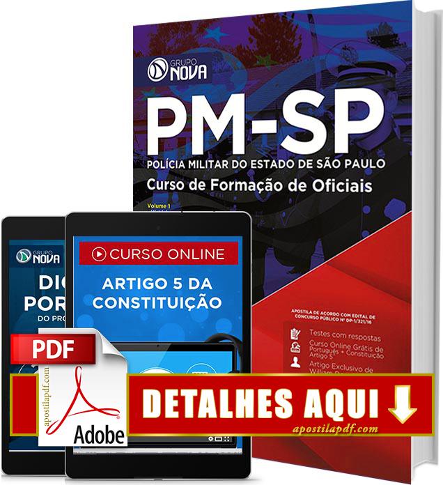 Apostila PM SP 2016 Curso de Formação de Oficiais Impressa