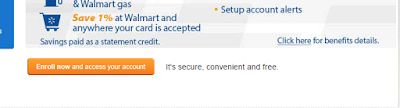 Walmart Credit Card Enroll home page