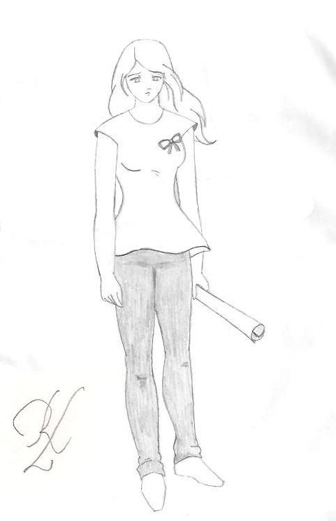 Garota Triste Desenho Desenho Dg