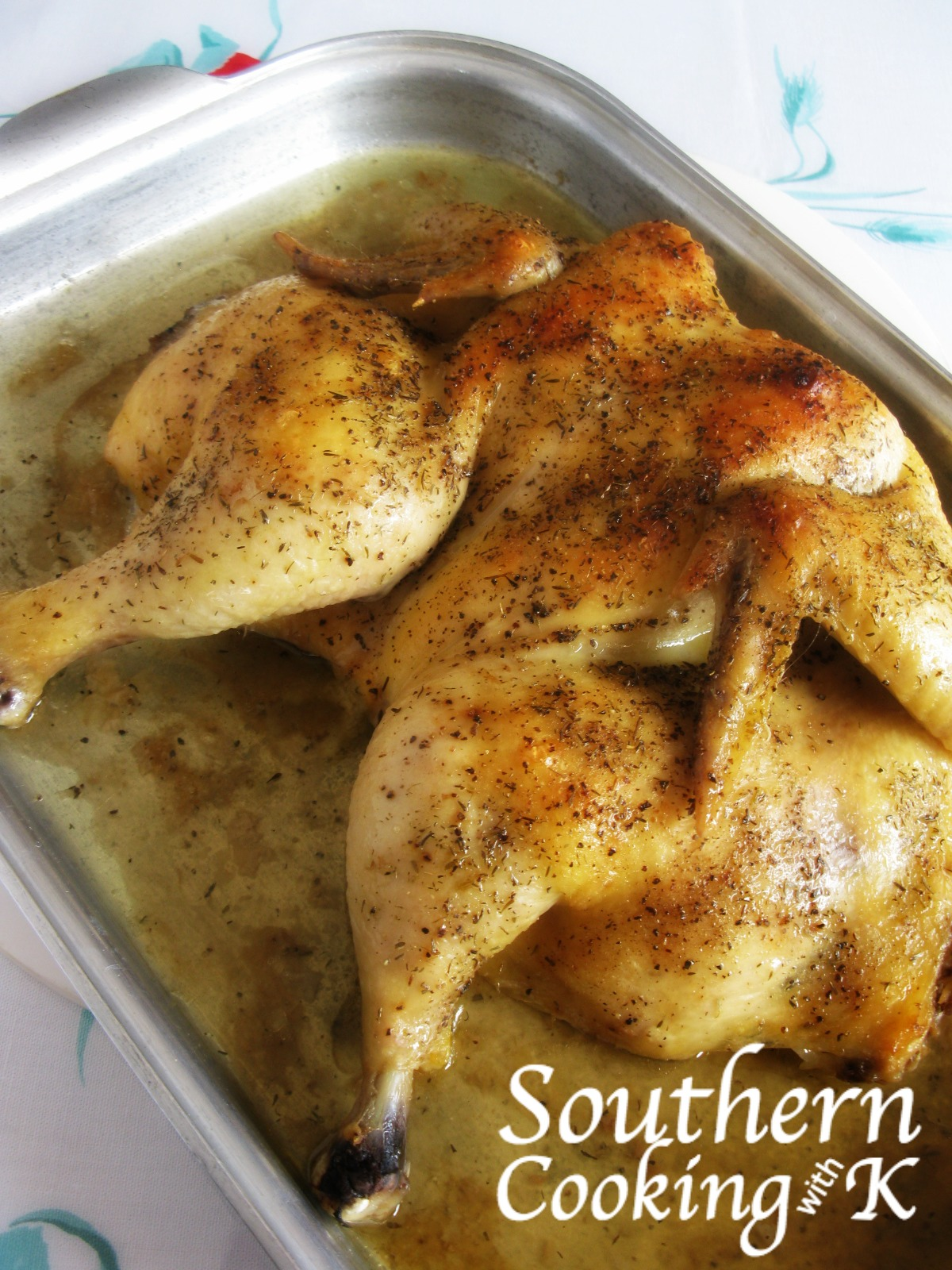 Cooking With K Quick Flat Roast Chicken