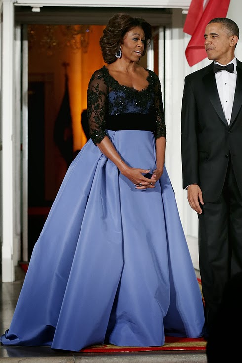 Who Wore What Michelle Obama In Carolina Herrera
