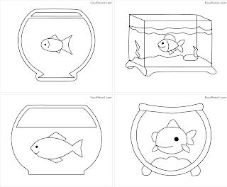 Fish tank coloring page templates coloring pages for Fish tank coloring pages