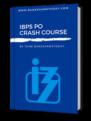 IBPS PO CRASH COURSE