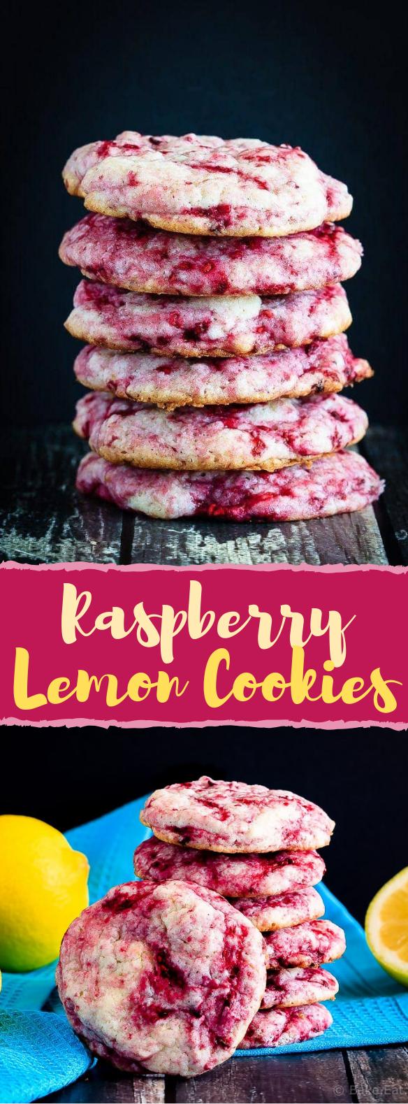 Raspberry Lemon Cookies #sweets #cookie