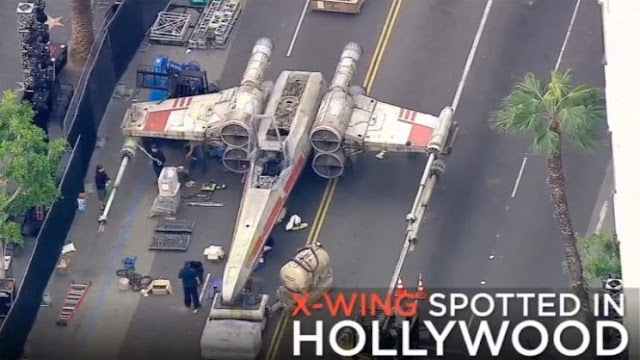 starwars x-wing space ship found in hollywood