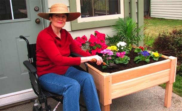 Eat Live Grow Paleo Square Foot Gardening Wheelchair