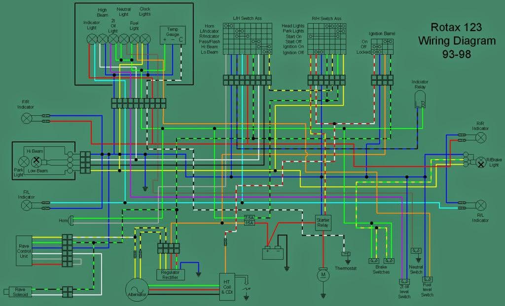 APRILIA RS 125 : aprilia RS 125 wiring diagrams  electrics RS125