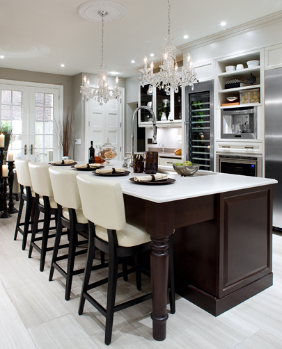 Kitchen Cabinets Espresso: Elegant Home And Garden Design: Espresso Islands With