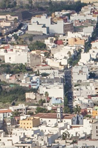 Fragmento de fotografía panorámida del Valle de Güímar, tomada desde la ladera de Güímar
