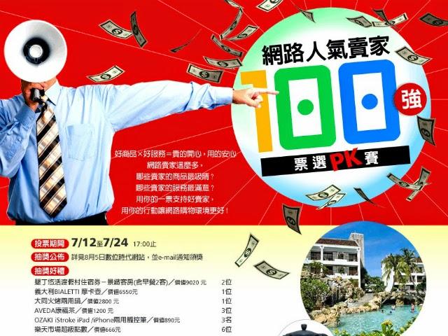 網路人氣賣家戰報Day 10:粉絲團動員成功,12家超過千票