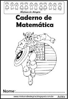 Capa para caderno Capitão América