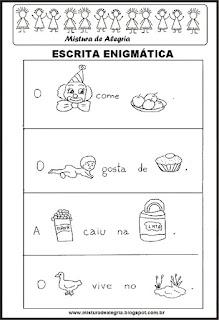 Escrita enigmática-alfabetização