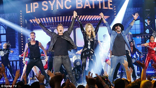 Gigi Hadid performed to Larger Than Life on Lip Sync Battle with a little help from Nick Carter and A.J. McLean