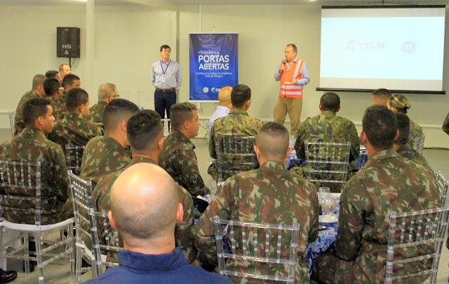 Forças Armadas visitam obras da Termoelétrica na Barra dos Coqueiros