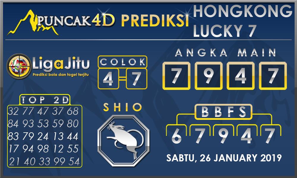 Prediksi Togel HONGKONG LUCKY7 PUNCAK4D 26 JANUARI 2019