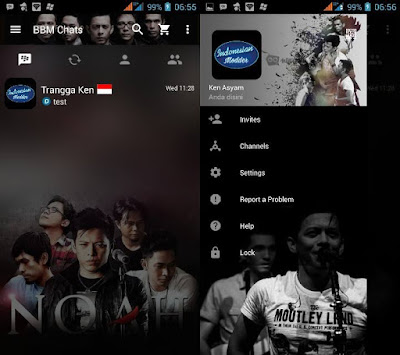 Download BBM MOD Noah Transparan Theme Versi Terbaru v3.2.0.6 APK for Android