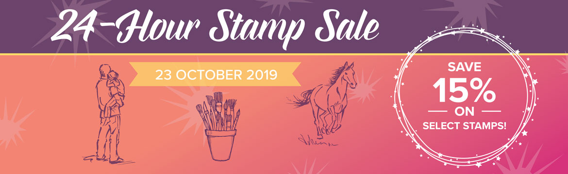 24 HOUR STAMP SALE - 23 OCTOBER 2019 begins at 11:00 pm 22 October to 10:50 pm 23 October in UK