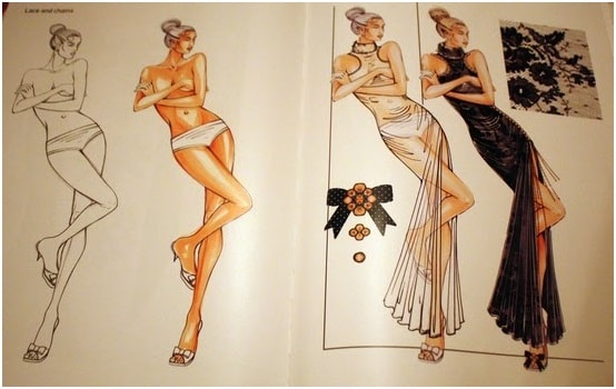 Figure illustration and dress design