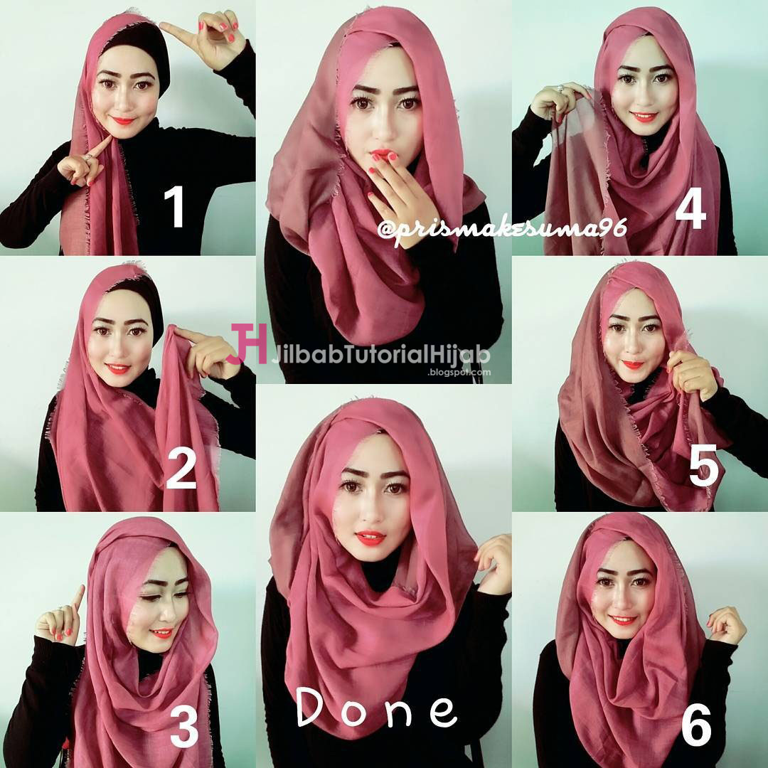 Gambar Video Tutorial Hijab Square Jilbab Tutorial Hijab