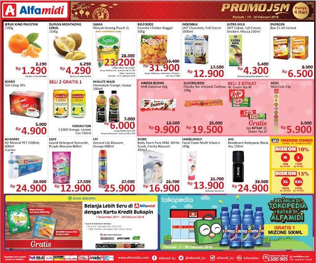 Katalog Promo ALFAMIDI Akhir Pekan Weekend Periode 15 - 18 Februari 2018