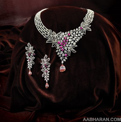 Diamond Necklace Sets From Tribhovandas Bhimji Zaveri