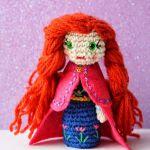 patron gratis muñeca anna frozen amigurumi