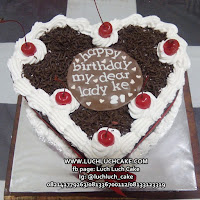 Birthday Cake Love Blackforest Cake